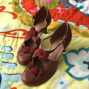 Anthropology Miss Albright Leather Heels